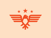 Eagle bird animal geometric branding logo stars eagle
