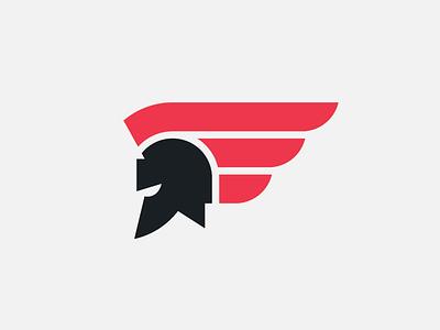 Spartan logomark logo branding warrior legion hoplite rome roman knight