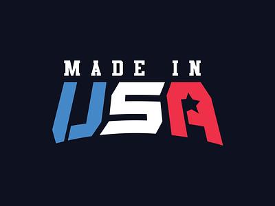 Made in USA wordmark sports a monogram s logotype logomark logo america miusa esports usa u