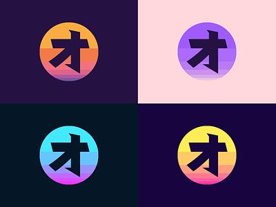 Owen M. Roe Colorways colour logo japanese retro synthwave colors