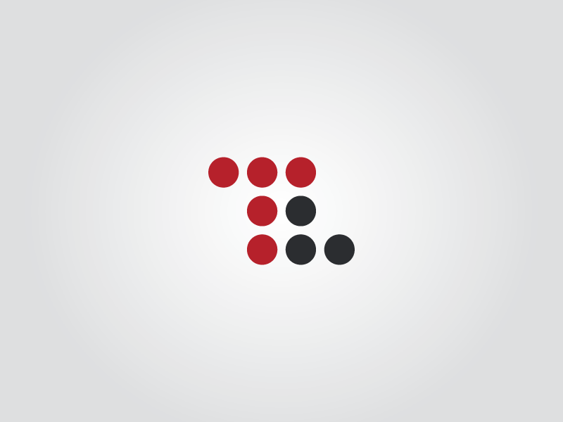 Thriveline Interactive Agency logo dots circles red black tl t l