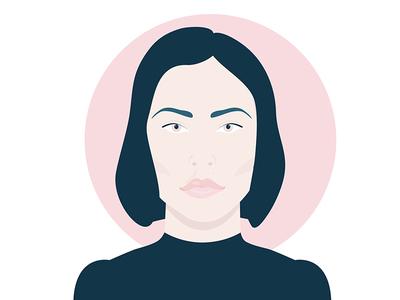 Nina computer art vector graphic graphic portrait vector art vector illustrative illustrator illustration dj nina kraviz