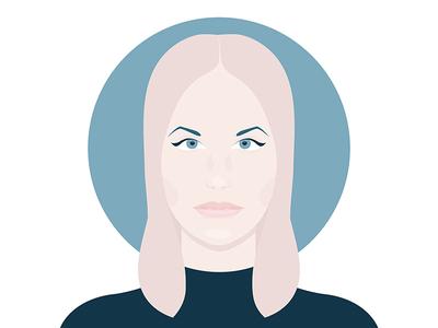 Ida digital art computer art vector art vector illustrative illustration illustrator dj techno portrait ida engberg