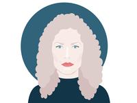 Female DJ portrait - Monika Kruse