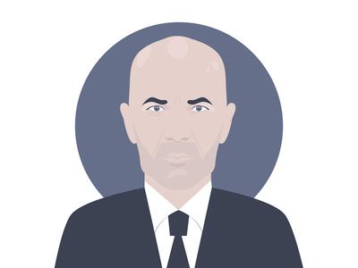 Zidane soccer football computer art digital art vector art vector illustrator illustration portrait zidane