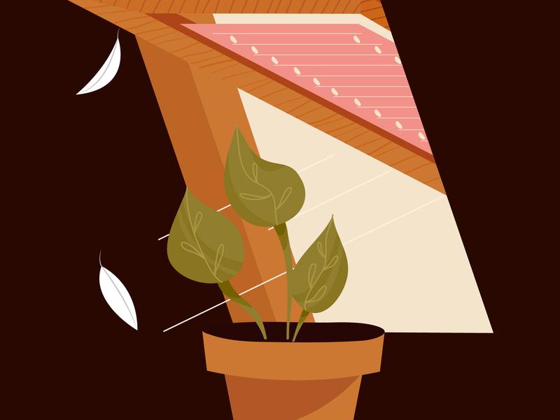 Feather window illustrator vector illustration feather