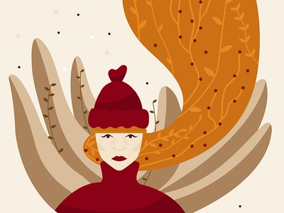 Miss Autumn (cropped here) vector illustrator illustration miss autumn autumn