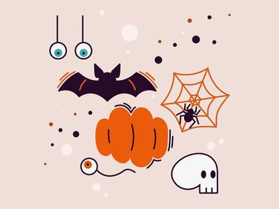 Halloween Icons halloween icons spider eyeball skull pumpkin halloween