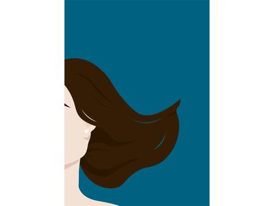 Pearl illustration detail human brunette blue earing woman girl pearl