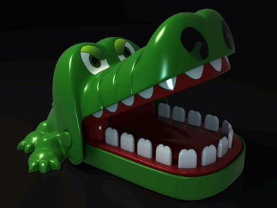 Rendered 3D Crocodile Dentist Toy render arnold crocodile toy lowpoly maya 3d