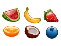 Fruit Match 3 Game - basic fruit assets