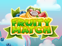 Fruit Match 3 Game - Logo on Start screen