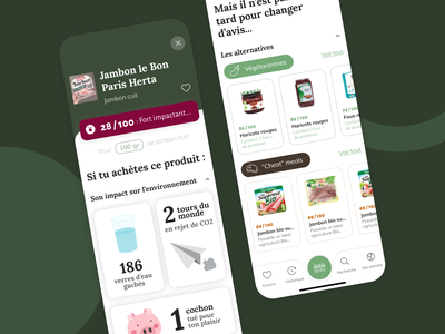 Shiso - Know what you eat recipe french cooking food user interface design scan ecology green branding application minimalism ux ui interface app