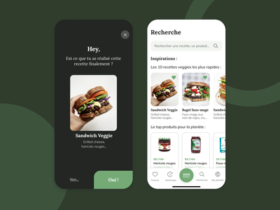 Shiso - Know what you eat cooking food app user interface design interface ux ui application branding ecology green minimalism recipe french