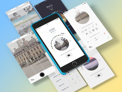 InstantWeather app user interface ui design weather app minimalism graphism interface design ux ui app application weather