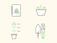 Gardening app icons