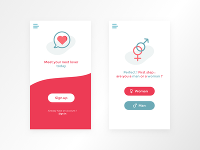 Sign up concept clean minimalism interface interaction dating mobile app uidesign daily ui ui dailyui