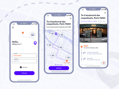 Other way - GPS App UI map ui map maps minimal figma journey travel route gps application ux ui interface app