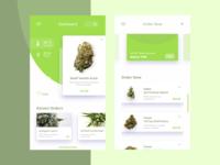 Medical cannabis shopping app concept