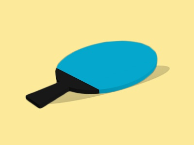 Table Tennis Bat _ 3D