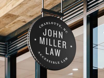 John Miller Law - Sign Concept
