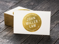 Miller Law - Business Card Concept