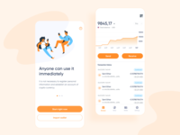 GO ! WALLET app illustration onboarding eth ether receive send wallet bitcoin wallet chart bitcoin ethereum app cryptocurrency blockchain ethworks