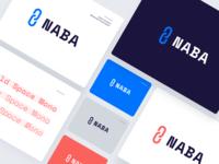 NABA typography ethworks chain logo naba association blockchain american cryptocurrency crypto branding
