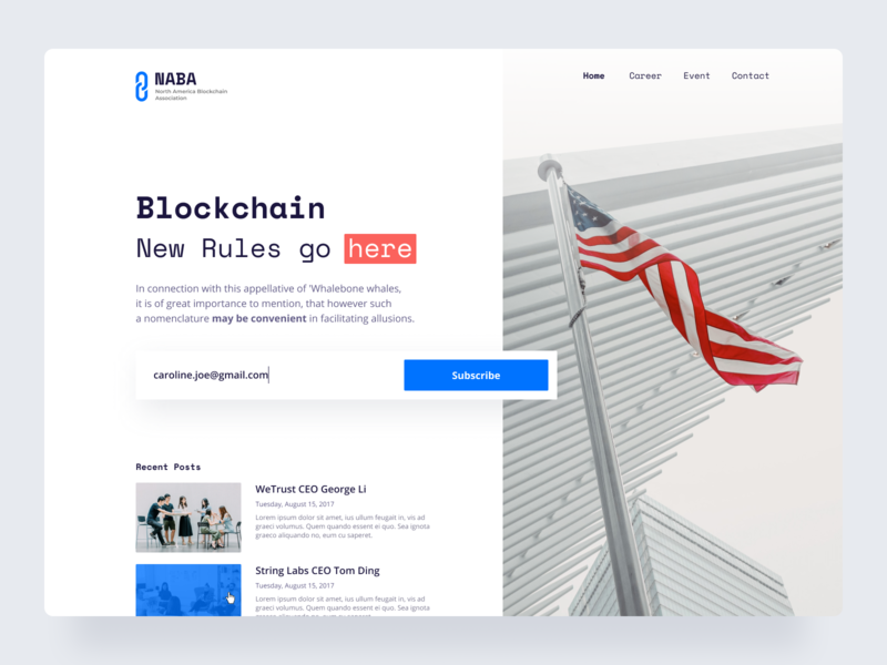 NABA website hero ethworks ethereum bitcoin tokens cryptocurrency blockchain website
