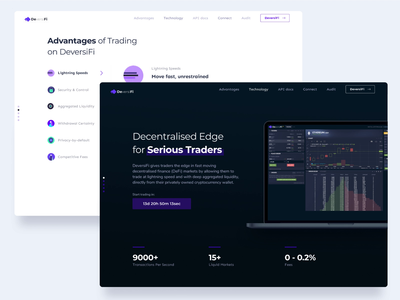 DeversiFi trading platform fees ethereum bitcoin coins tokens deversifi serious traders trading user experience blockchain cryptocurrency ethworks