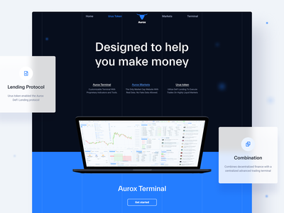 Aurox Landing digital user experience ethereum crypto ui ux blockchain design cryptocurrency ethworks
