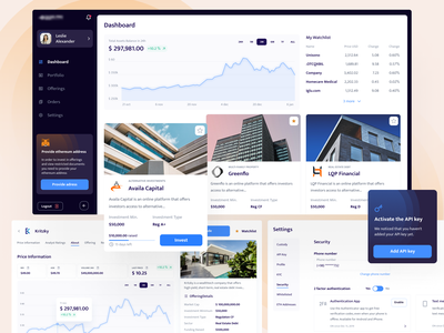 Investment platform asset token crypto design blockchain cryptocurrency ethworks invest metamask settings chart price dashboard investment