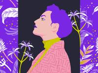 Flat woman illustration