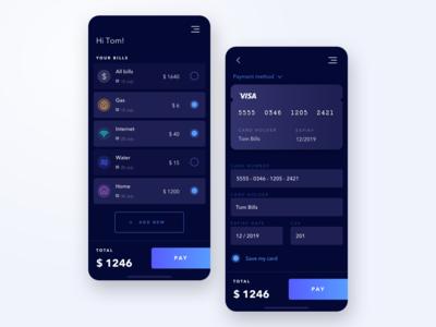 Darkmode bill app