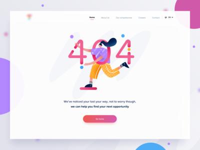 404 illustration page