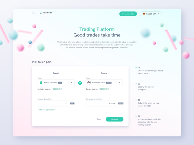 Slow trade redesign pastels gradient website web blockchain trade 3d cryptocurrency user experience ethworks ux ui design