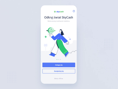 SkyCash animation animation 2d ui ux login register movie giraffe skycash cash animation application digital mobile ios app illustration design
