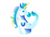 UniLogin unicorn logo pastels horse blockchain unilogin crypto unicorn procreate digital cryptocurrency illustration ethworks design
