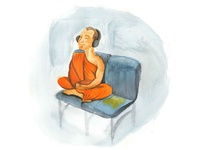Buddhist Bus Rider