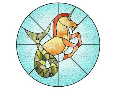 Merhorse Stained Glass (for Blu Dot Swap Meet) by Rett