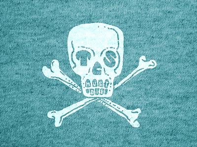TCS MUST DIE shirt die skull