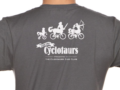 Cyclotaur Shirt - Back cyclotaur centaur bike bicycle mythical creature