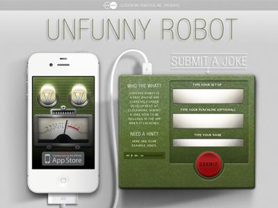 Unfunny Robot unfunny robot iphone app clockwork