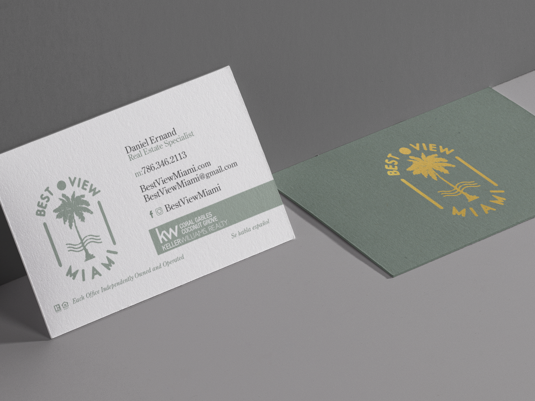 Best View Miami Business Cards By Jenny Mendez Dribbble Dribbble
