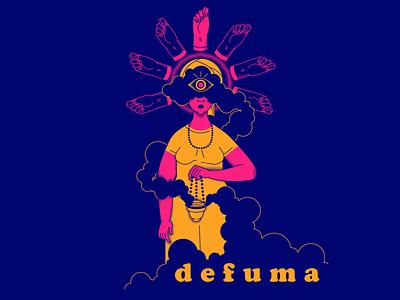 d e f u m a faithful spirituality cleaning protection spiritual defuma character design illustration