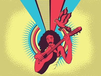 Lá vem o Brasil descendo a ladeira moraesmoreira brazil novosbaianos brazilianmusic music illustrator vector illustration