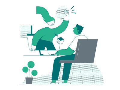 Talk to a consultant ux ui energy hiring process bussiness vector characterdesign illustration