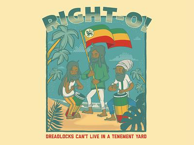 Tenement Yard character design jamaica etiopia reggae selassie rasta tenement yard rockers jacob miller adobeillustrator vector illustration