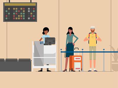 Boarding character design illustrator cc motion illustration flatillustration vector art adobeillustrator