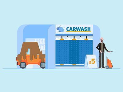 Carwash illustrator breaking bad car money laundering walterwhiter carwash character design characterdesign adobeillustrator vector illustration